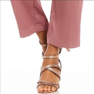 Vince Camuto Rose Gold Strappy Sandals